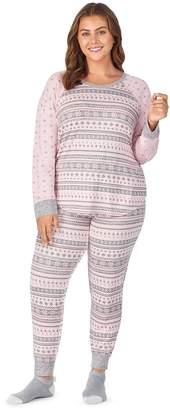 Cuddl Duds Plus Size Printed Pajamas & Socks Set