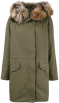 Yves Salomon reversible raccoon fur trimmed parka coat
