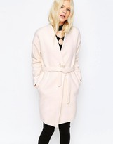 Pieces Pink Wool Wrap Coat