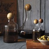 west elm Glass Bottles with Wood Stoppers
