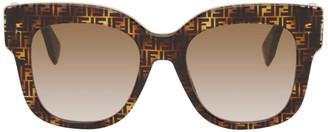 Fendi Tortoiseshell F Is Square Sunglasses