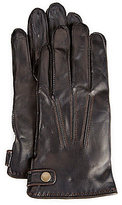 Fownes Leather Gloves with Side Tabs