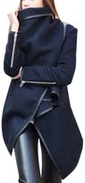 ClothingLoves Women's Solid Cotton Blends Long Trench Coats Large