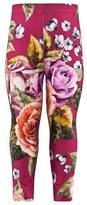 MonnaLisa Fuschia Floral Leggings