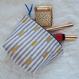 paperCutts designs Embroidered Pineapple Cotton Make Up Bag