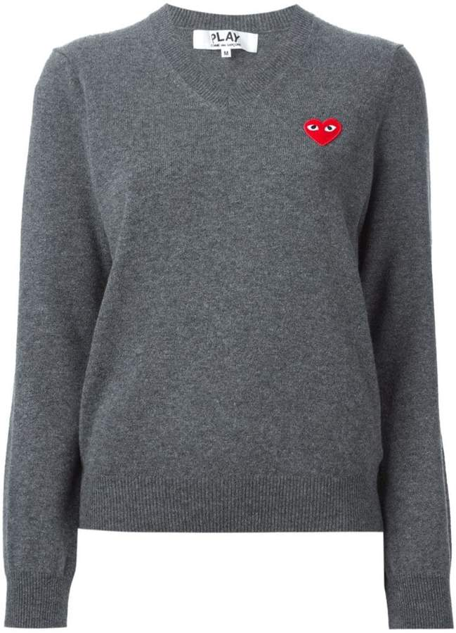 Comme des Garcons embroidered heart sweater
