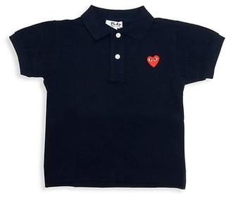 Comme des Garcons Little Kid's Logo Polo Shirt