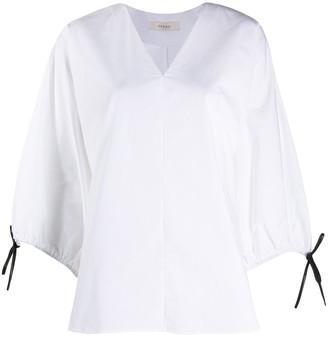 Áeron Sleeve-Tie V-Neck Blouse