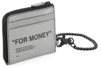 Off-White Off White Quote Leather Chain Wallet