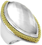 Lagos 18K Gold & Sterling Silver Mother of Pearl Ring - Size 7