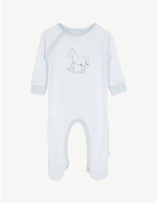 The Little Tailor Rocking horse stripe print sleepsuit 0-18 months