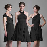 In One Clothing Black Multiway Knee Length Dress