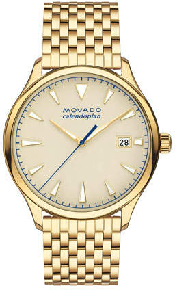 Movado Gold-Plated Heritage Calendoplan Watch