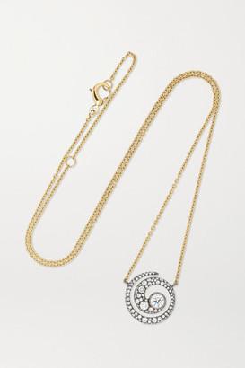 Jessica McCormack Tattoo 18-karat Yellow And Blackened White Gold Diamond Necklace - One size