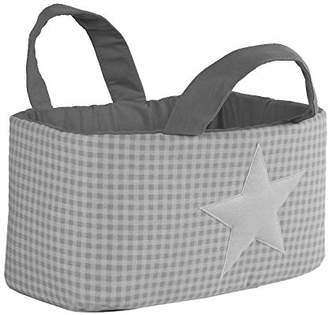 Camilla And Marc Funny Baby Vichy juguetero Padded 30 x 45 x 27 cm, Design Stars, Grey