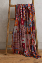 Anthropologie Patchwork Crocheted Throw Blanket