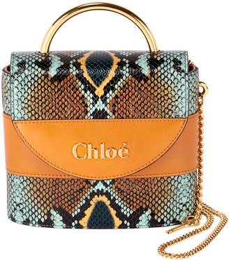 Chloé Aby Lock Python-Print Top Handle Bag