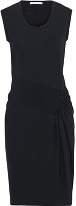 Helmut Lang Pintucked Stretch-jersey Dress