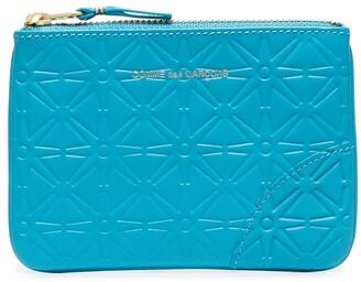 Comme des Garcons Embossed-Design Zipped Wallet