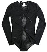 Hanky Panky Shadow Stripe Long Sleeve Bodysuit