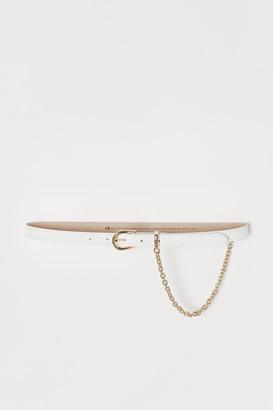 H&M Chain-detail Waist Belt - White