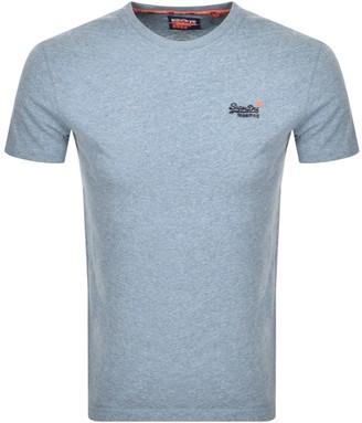 Superdry Vintage Short Sleeved T Shirt Blue