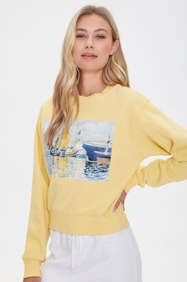 Forever 21 Fleece Painting Pullover