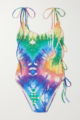 Ack ACK - Tintarella Cutout Tie-dyed Swimsuit - Blue