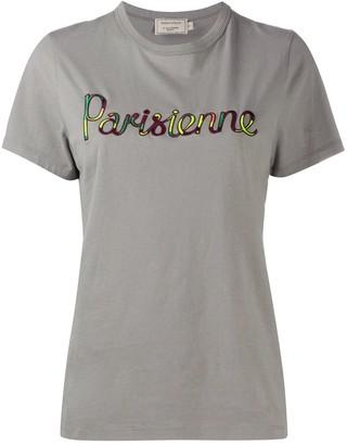 MAISON KITSUNÉ Parisienne logo T-shirt
