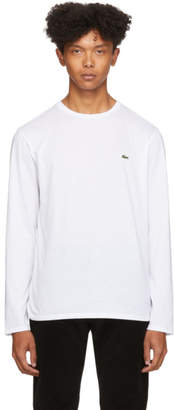Lacoste White Classic Long Sleeve T-Shirt