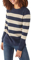 Fat Face Cally Striped Jumper, Navy