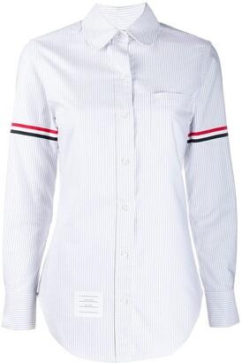 Thom Browne vertical-stripe RWB-detail shirt