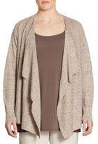 Eileen Fisher, Plus Size Angel Geometric Textured Cardigan