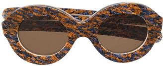 Cutler & Gross Oval-Frame Sunglasses