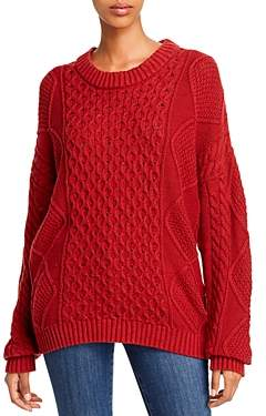 Aqua Cable & Honeycomb-Knit Sweater - 100% Exclusive
