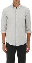 Hartford Men's Cotton Flannel Shirt-LIGHT GREY