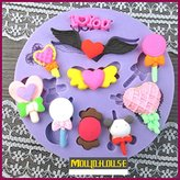 YingYing Home Silicone Lollipop Cake Chocolate Soap Pudding Jelly Candy Ice Cookie Biscuit Mold Mould Pan Bakeware