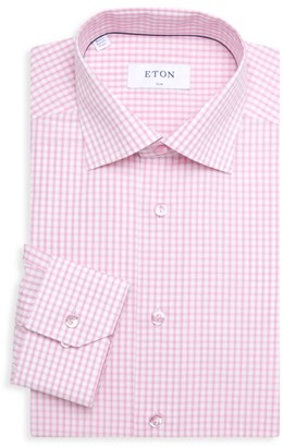 Eton Slim-Fit Check Shirt With Tonal Buttons