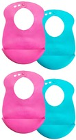 Tommee Tippee Pink & Blue Easi-Roll Bib - Set of Four