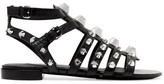 Balenciaga Giant Studded Leather Sandals - Black