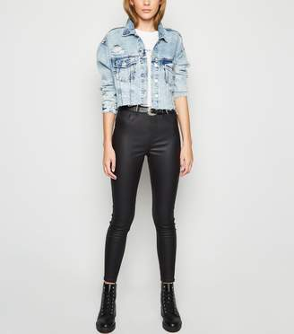 New Look Coated Leather-Look 'Lift & Shape' Jeggings