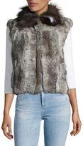 Adrienne Landau Rabbit and Fox Fur Vest