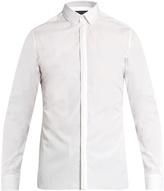 Lanvin Button-cuff stitch-detail cotton-poplin shirt