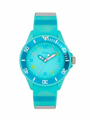 S'Oliver Girl's Analogue Quartz Watch with Silicone Strap SO-4003-PQ