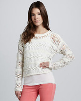 Cut25 Open Macrame Sweater