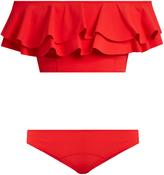 Lisa Marie Fernandez Mira ruffled bonded-bikini
