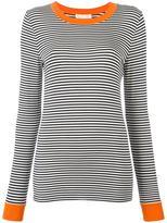 MICHAEL Michael Kors striped longsleeved T-shirt - women - Spandex/Elastane/Viscose - L