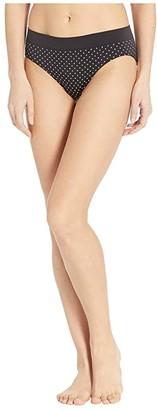 Bali One Smooth U All Around Smoothing Hipster Panty (Black/White Dot Print) Women's Underwear