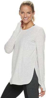 Tek Gear Women's High Slit Long Sleeve Tee