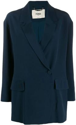 Fendi Blue Silk Blazer